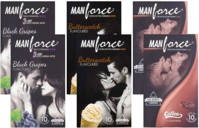 Manforce BlackGrape, Butterscotch, Coffee CPFK1679