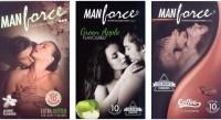 Manforce Jasmine, Green Apple, Coffee Condom (Set Of 3, 30S)