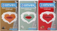 Convex Monthly Pack Combo Prolonger Jasmin, Strawberry, Chocolate (Set Of 3 30S) Condom (Set Of 3, 30S)