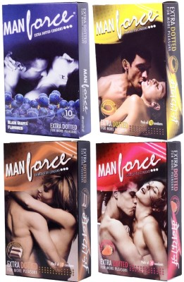 Manforce Flavored Condom Set of 4, 10S