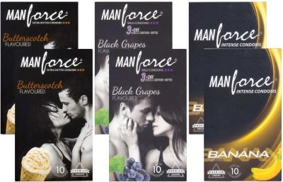 Manforce Butterscotch, BlackGrape, Banana CPFK1723
