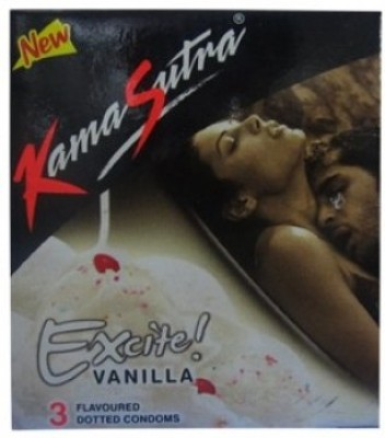 Kamasutra Excite Vanilla Flavoured Pack Of 3 X 25