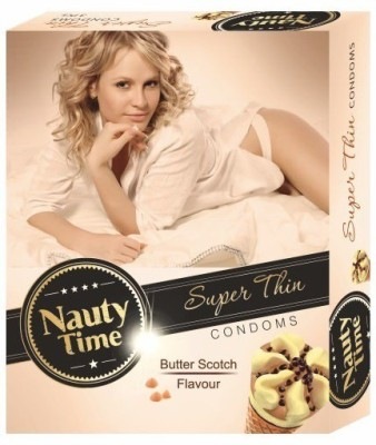 Nauty Time Super Thin Dotted Butter Scotch Flavour