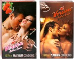 Version Extra Love Platinum Combos of Strawberry and Chocolate Flavour Condom