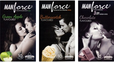 Manforce Green Apple, Butterscotch, Chocolate