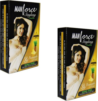 Manforce Staylong More time More Pleasure Pineapple Condoms