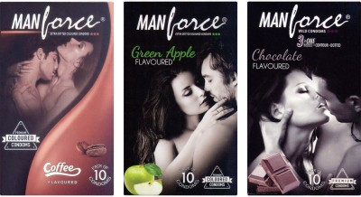 Manforce Coffee, Green Apple, Chocolate