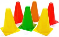 Sahni Sports Space Marker Pack Of 6 (Red, Yellow, Orange, Green Set Of 6)