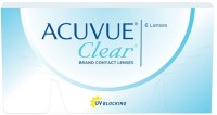 Acuvue Clear Fresh Stock New MRP -5.50 Pwr By Visions India Monthly Contact Lens (-5.50, Clear, Pack Of 6)