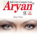 Aryan 2 Tone Grey Yearly Contact Lens By Visions India