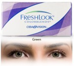 Ciba Vision Freshlook Colorblends Green By Visions India