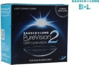 Bausch & Lomb Purevision 2 With Lens Case Monthly Contact Lens (-2.50, Clear, Pack Of 6)