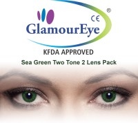 Glamour Eye Sea Green By Visions India Monthly Contact Lens (-1.25, Sea Green, Pack Of 2)