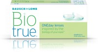 Bio True ONEday Disposable Contact Lens 30 Lens Pack -2.50 PWR By VisioneXpresso Daily Contact Lens (minus 2.50, Transparent, Pack Of 30)