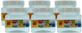 G-PET Cube Pet Container - Set of 6  - 150 ml Plastic Food Storage