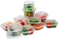 Televantage Mix N Match Containers  - 1000 Ml Plastic Food Container Pack Of 10, Clear