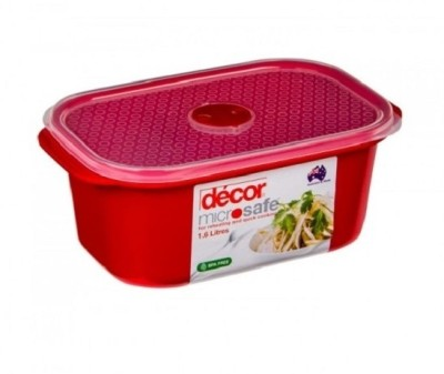 Buy decor microsafe oblong 1 6 l 1 6 l plastic food for Decor 6l container