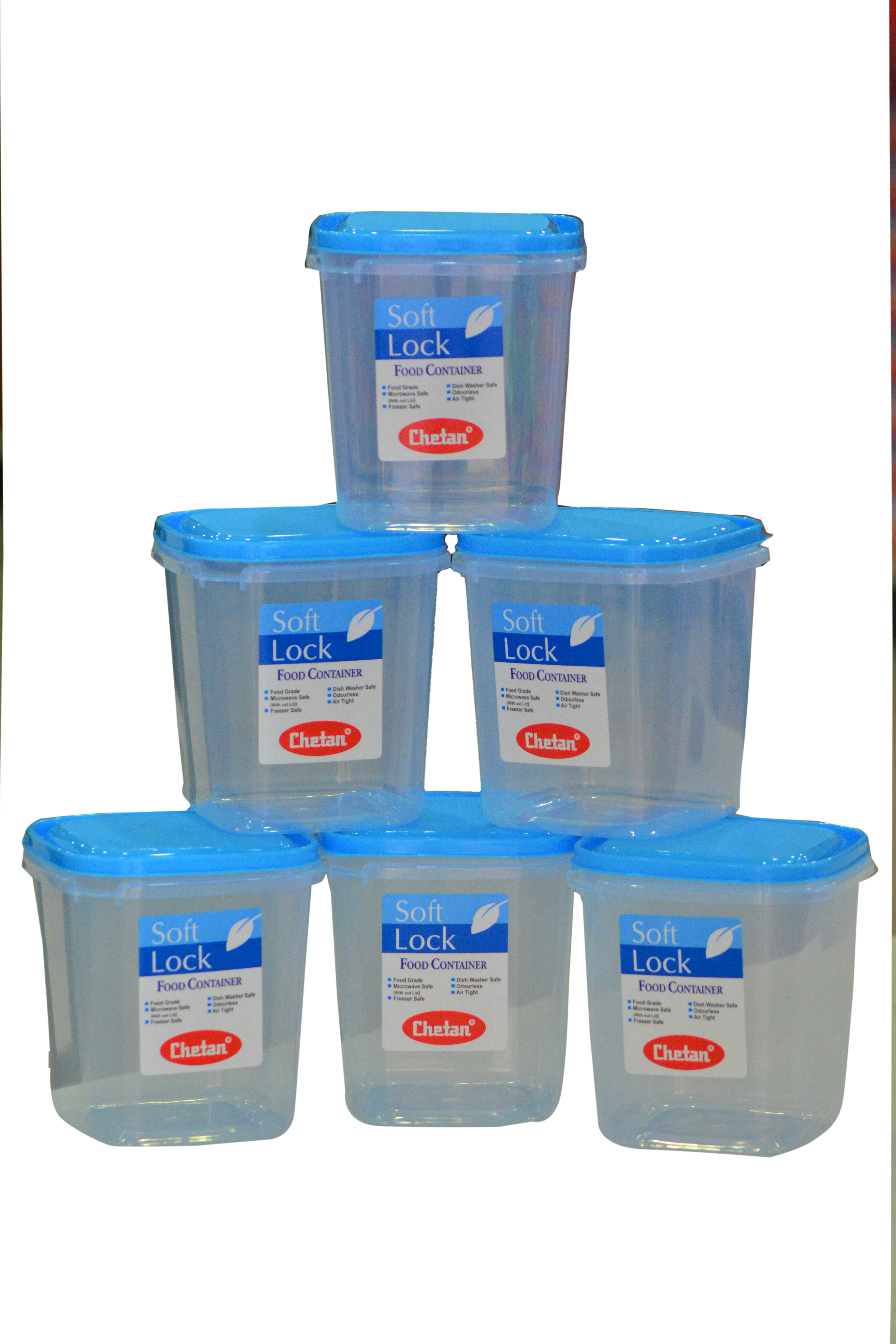 Chetan 6pc Softlock Plastic Kitchen Containers 1250ml 1250 Ml Plastic Food Container Price In