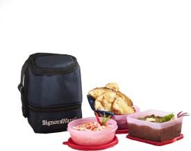 Signoraware Elegant Lunch Box With Bag  - 500 ml, 300 ml Plastic Food Storage