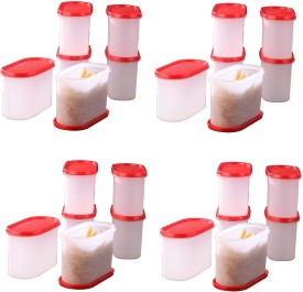 Tallboy Mahaware( microwaveable safe) space saver red lid  - 1200 ml Polypropylene Multi-purpose Storage Container