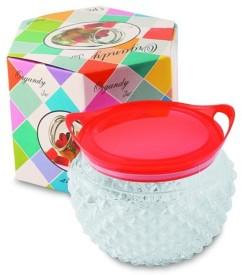 MagnusDeal Crystal Organdy Big Jar  - 500 ml Glass Multi-purpose Storage Container