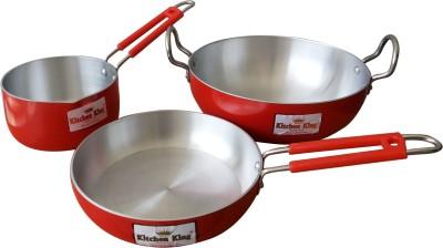 3 off on kitchen king cookware set on flipkart for Kitchen set on flipkart