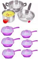 Peach 9 - Piece Cookware Set