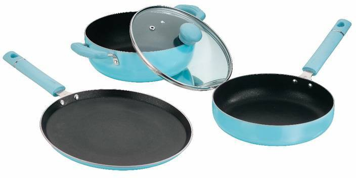 4 off on kitchen essentials cookware set on flipkart for Kitchen set on flipkart