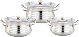 Klassic Vimal S.S.DTS Pasta Silver Touch dish Cookware Set
