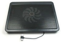 De TechInn USB Powered Metal Body Big Fan Stand For Laptop Notebook Blue Light Cooling Pad (Black, Multicolor)