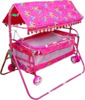 Brats N Angels Pink Baby Cradle Cum Cot Cum Stroller Bassinet (Pink)