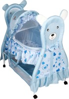 Sunbaby Cuddly Bear Bassinet Blue