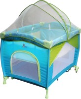 Sunbaby Play Pen Cot Green, Blue