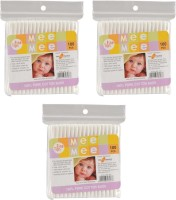 Mee Mee Baby Cotton Buds Pack Of 3 (Pack Of 100)
