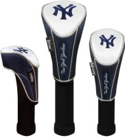 McArthur New York Yankees Set Of Three Headcovers Stick Cover S (Blue)