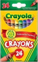 Crayola Triangular Shaped Wax Crayons (Set Of 24, Multicolor)