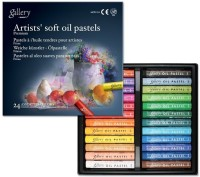Mungyo Gallery Artists' Round Shaped Soft Oil Pastels Crayons (Set Of 1, Assorted)