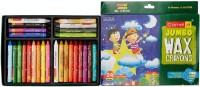 Camlin Jumbo Round Shaped Wax Washable Crayons (Set Of 1, Multi Colour)