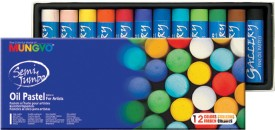 Mungyo Oil Pastel Crayons - Set Of 12, Assorted