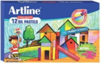 Artline Super Smooth Oil Pastel_12 Round Shaped Plastic Washable Crayons (Set Of 1, Multicolor)
