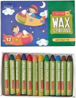 Camlin Cartoon ROUND Shaped Wax Washable Crayons (Set Of 1, Multicolour)