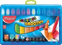 Maped Colourpeps Gel Triangular Shaped Plastic Crayons (Set Of 1, Blue)