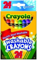 Crayola Triangular Shaped Wax Washable Crayons (Set Of 1, Multi Colours)