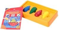 Faber Castell Triangular Shaped Wax Crayons (Set Of 4, Multicolor)