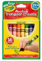 Crayola Triangular Shaped Wax Washable Crayons (Set Of 1, Multicolor)