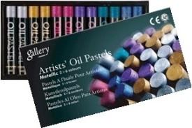 Mungyo Oil Pastel Crayons - Set Of 12, Assorted Metallic