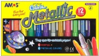 Amos Colorix Octagonal Shaped Pastel Washable Crayons (Set Of 1, Multicolor)