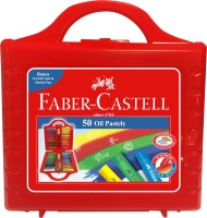 Faber-Castell Expressionist Round Shaped Oil Pastels Washable Crayons (Set Of 1, Red)