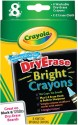 Crayola Rectangle Shaped Wax Crayons - Set Of 8, Multicolor - CRYDWDRCZB3NTVES