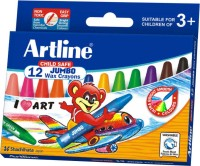 Artline Jumbo Round Shaped Wax Washable Crayons (Set Of 2, Multicolor)